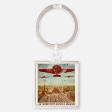 Vintage poster - Russian plane Keychains