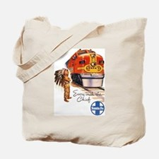 Cute Railroad Tote Bag