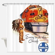 Vintage poster - Santa Fe Shower Curtain