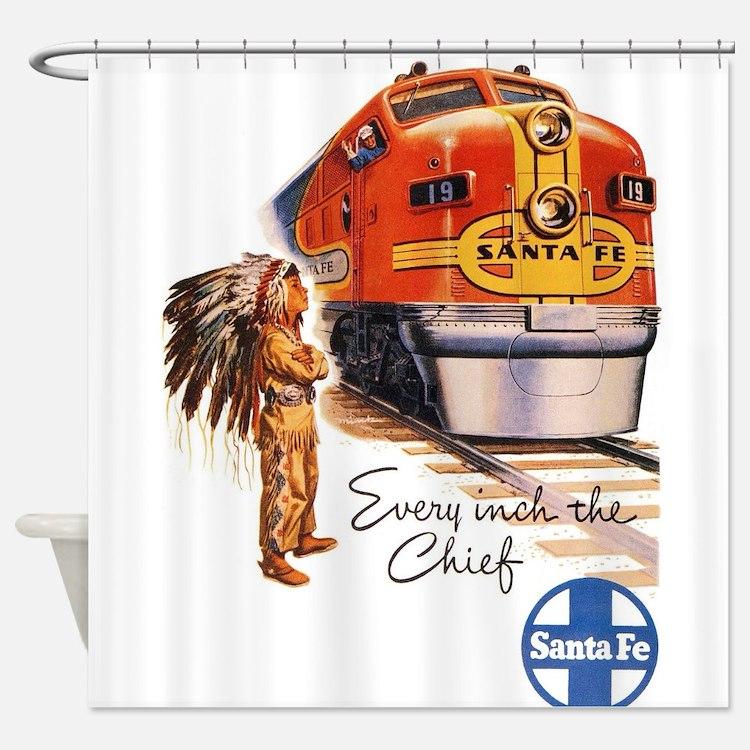 Vintage poster - Santa Fe Shower Curtain