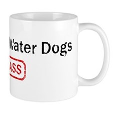 Portuguese Water Dogs Kick as Mug