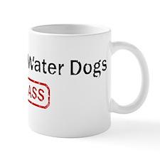 Portuguese Water Dogs Kick as Small Mug