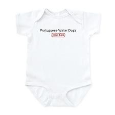 Portuguese Water Dogs Kick as Infant Bodysuit