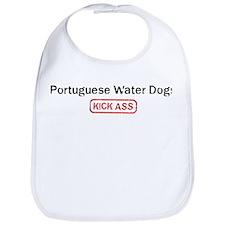 Portuguese Water Dogs Kick as Bib