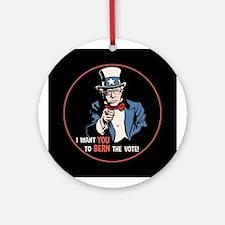 Bernie Wants You Round Ornament