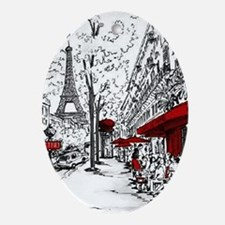 Cafe De Paris Oval Ornament