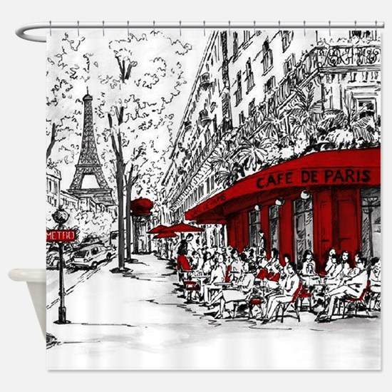 Cafe De Paris Shower Curtain