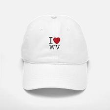 I Love WV West Virginia Baseball Baseball Cap
