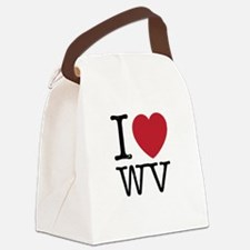 I Love WV West Virginia Canvas Lunch Bag
