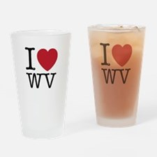 I Love WV West Virginia Drinking Glass