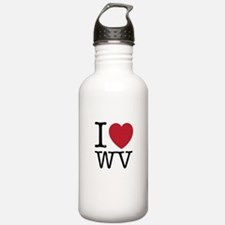 I Love WV West Virgini Water Bottle