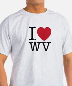 I Love WV West Virginia T-Shirt