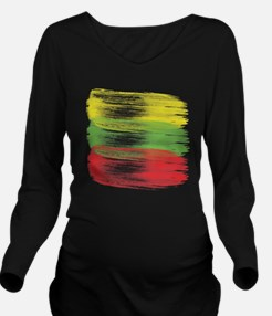Unique Brush strokes Long Sleeve Maternity T-Shirt
