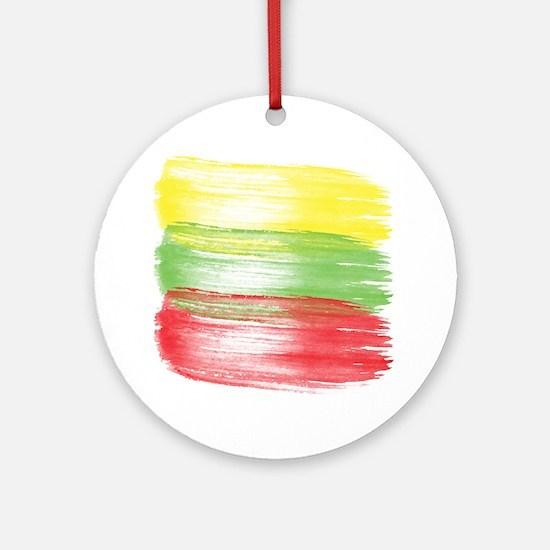 Cute Lithuania flag Round Ornament