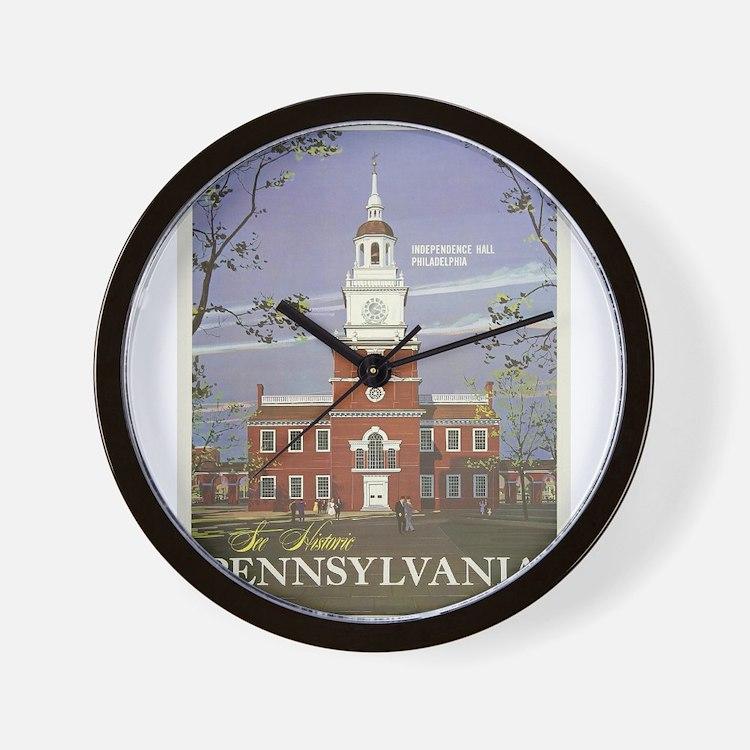 Vintage poster - Pennsylvania Wall Clock