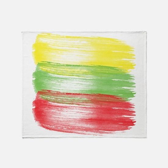 lithuania flag lithuanian Throw Blanket