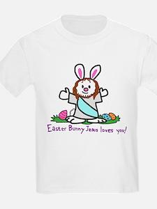 Easter Bunny Jesus loves You! T-Shirt