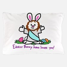 Easter Bunny Jesus loves You! Pillow Case
