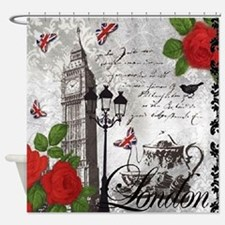Cute Big ben Shower Curtain