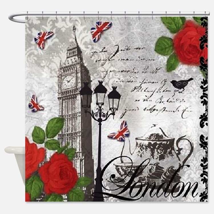 Cute London Shower Curtain