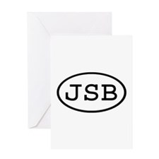 JSB Oval Greeting Card