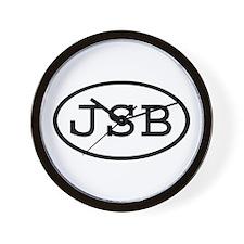 JSB Oval Wall Clock