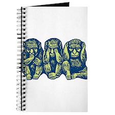 See Hear Speak No Evil Monkey Journal