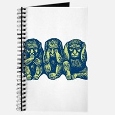See Hear Speak No Evil Monkey Journal