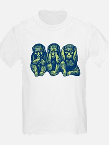 See Hear Speak No Evil Monkey T-Shirt