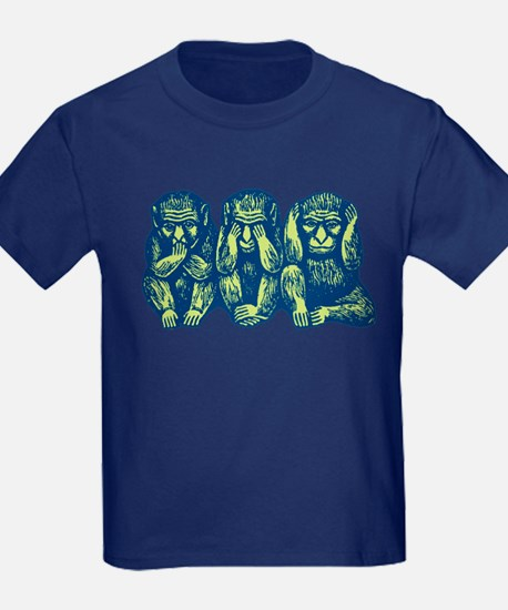 See Hear Speak No Evil Monkey T