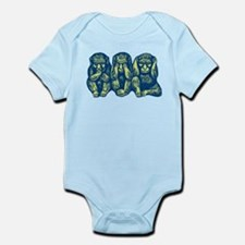 See Hear Speak No Evil Monkey Infant Bodysuit