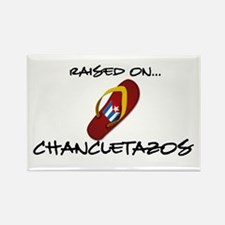 Raised on...Chancletazos Rectangle Magnet