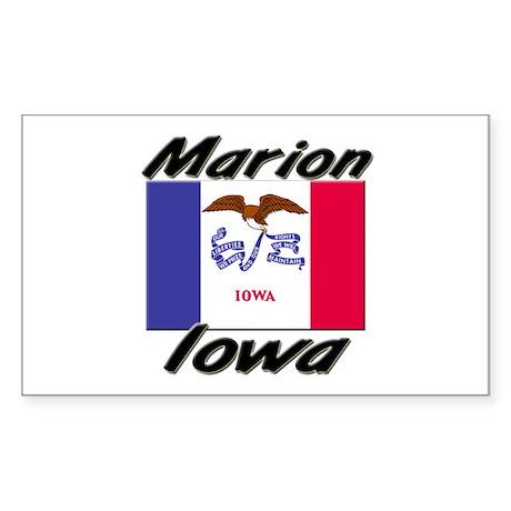 Marion Iowa Rectangle Sticker