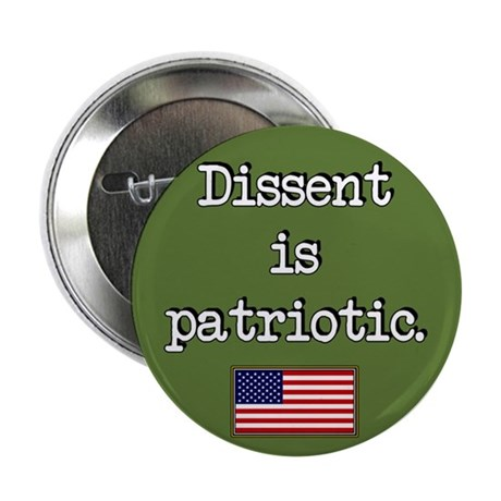 """Dissent Is Patriotic 2.25"""" Button (10 pack)"""
