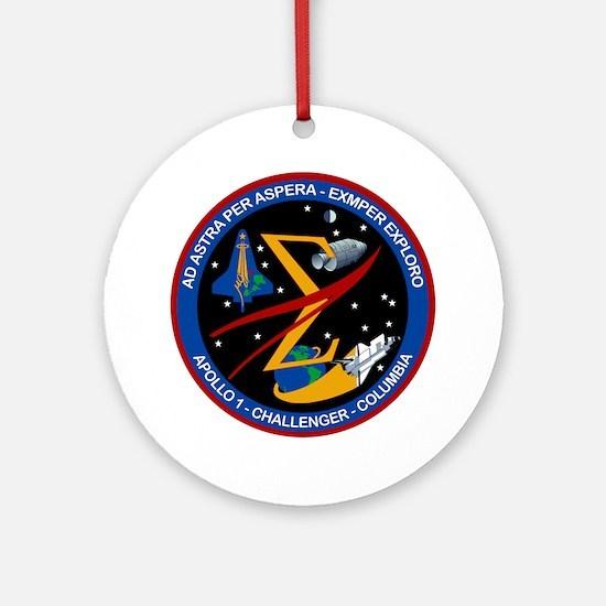 Space Flight Memorial Round Ornament