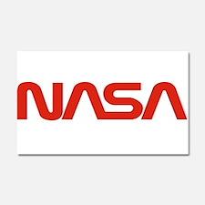 NASA Worm Logo Car Magnet 20 x 12