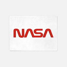 NASA Worm Logo 5'x7'Area Rug
