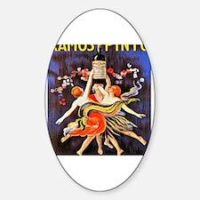 Cute Italian women Sticker (Oval)