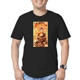 Buddha Fitted T-shirts (Dark)