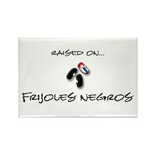 Raised on... Frijoles Negros Rectangle Magnet