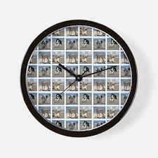BEACH DOGS Wall Clock