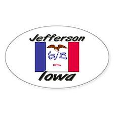 Jefferson Iowa Oval Decal