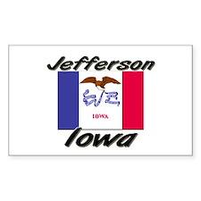Jefferson Iowa Rectangle Decal