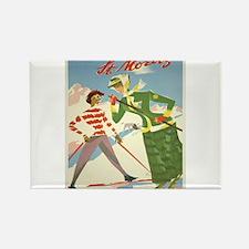 Vintage poster - St. Moritz Magnets