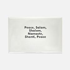 Peace, Salam, Shalom, Namaste Rectangle Magnet