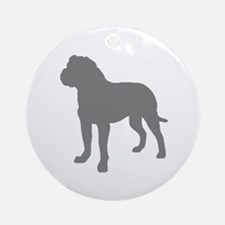 Rottweiler Gray 2 Round Ornament