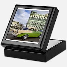 Cuba cars Keepsake Box