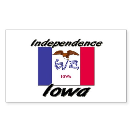 Independence Iowa Rectangle Sticker