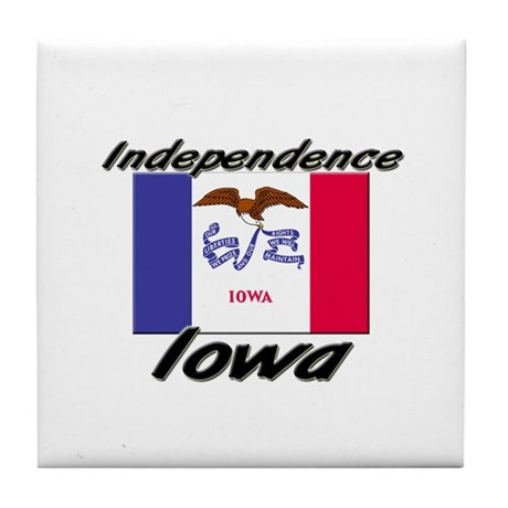 Independence Iowa Tile Coaster