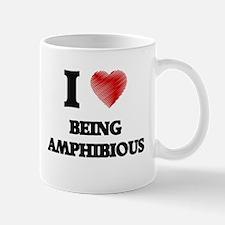 I Love BEING AMPHIBIOUS Mugs